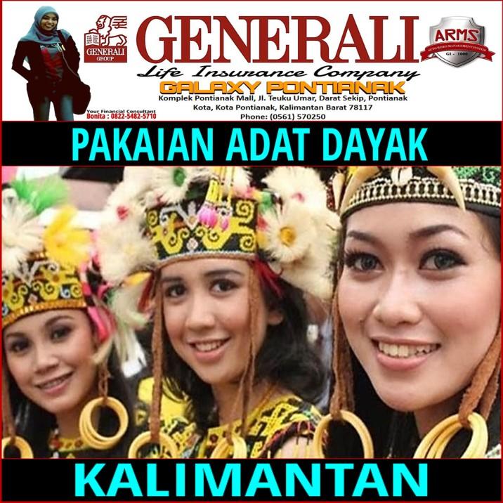 Pakaian Adat Suku Dayak Kalimantan